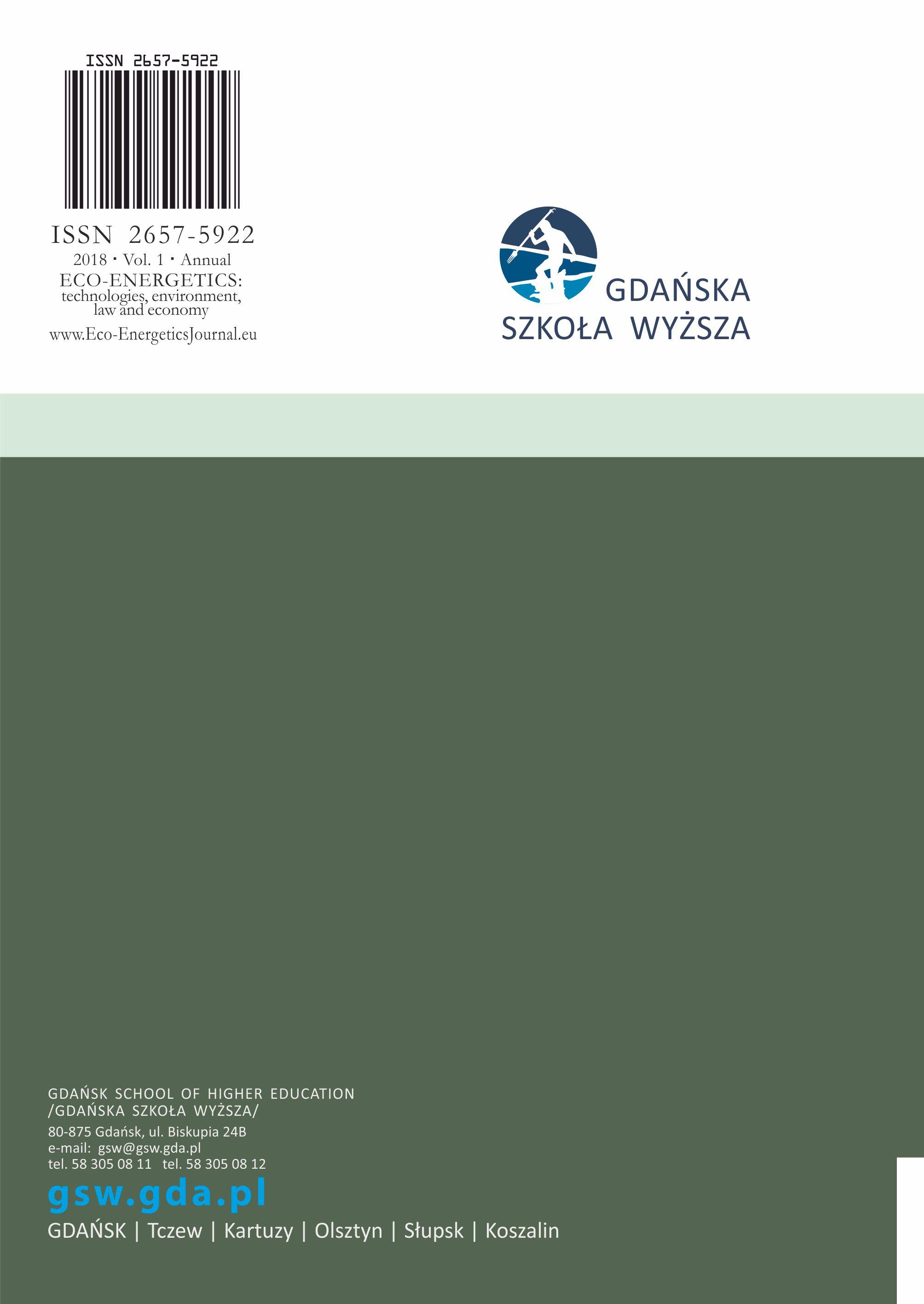 Eco-Energetics, vol. 1 - ostatnia strona okładki