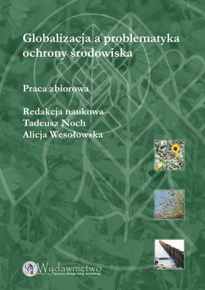 Globalizacja a problematyka ochrony środowiska 2010 - pierwsza strona okładki