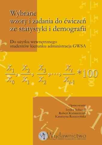 Wybrane wzory i zadania do ćwiczeń ze statystyki i demografii - pierwsza strona okładki