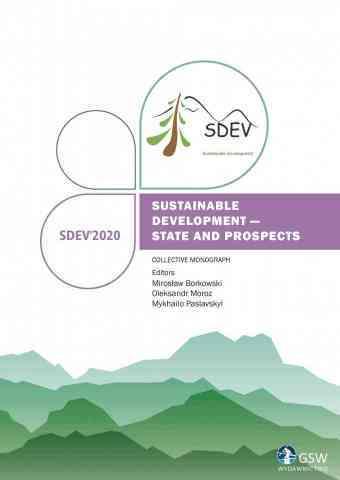 Pierwsza strona okładki (cover) Sustainable development - state and prospects