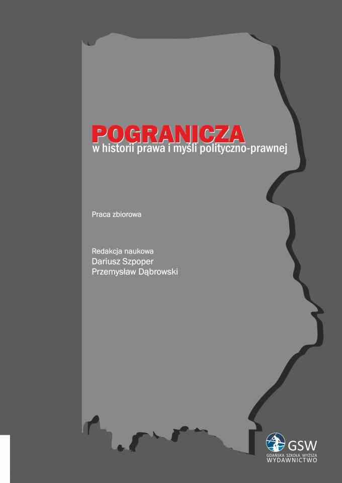 Pogranicza w historii prawa i myśli polityczno-prawnej - pierwsza strona okładki