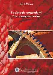 Socjologia gospodarki. Trzy wykłady programowe - pierwsza strona okładki
